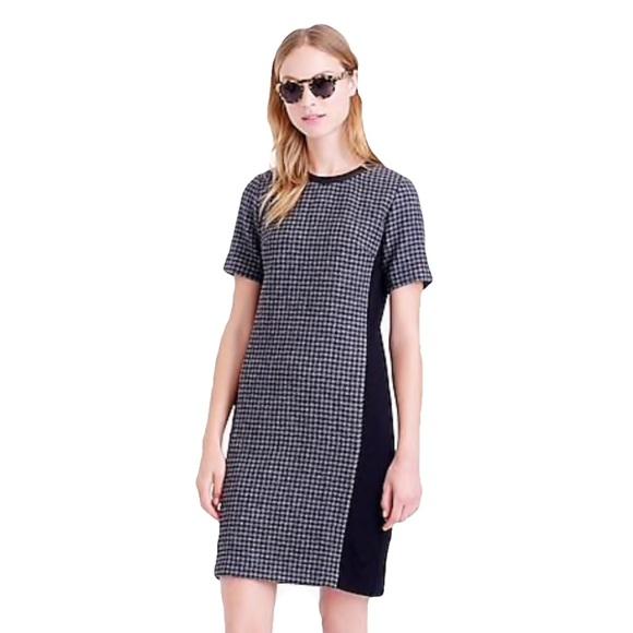 J. Crew Dresses & Skirts - J. Crew mixed Houndstooth shift wool dress Sz 4